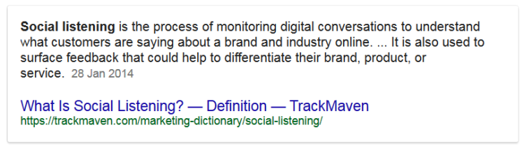 Social Listening Search